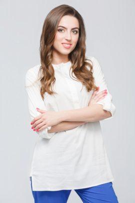 Белая штапельная блуза